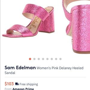 Pink metallic Sam Edelman sandals